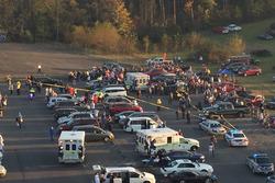 Post-race accident
