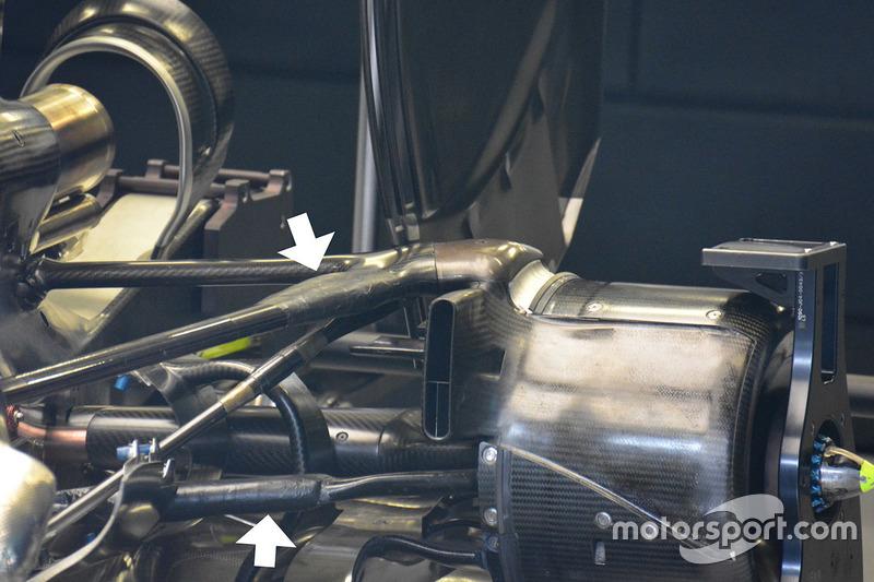 Detail Hinterradaufhängung, Mercedes AMG F1 W07 Hybrid