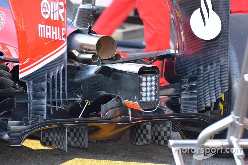 Ferrari SF16-H diffuser detail