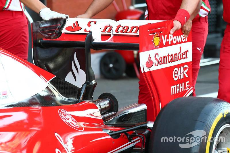 Ferrari SF16-H, rear wing on Friday