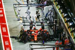 Stoffel Vandoorne, McLaren MCL32, au stand