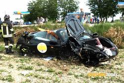 Ferrari 458 coinvolta nell'incidente