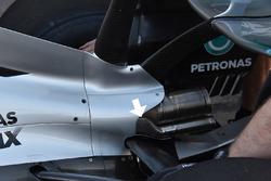 Mercedes AMG F1 W08: Heckbereich