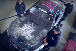 Special paint-scheme for Tony Stewart's last race