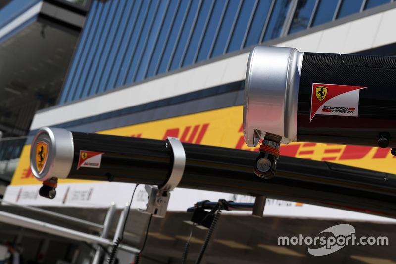 Ferrari pit box gantry