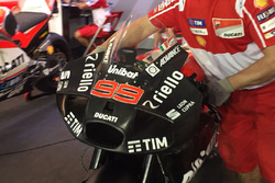 La Ducati de Jorge Lorenzo équipée de son nouveau carénage