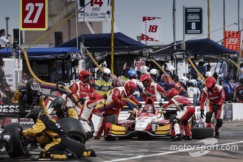 Marco Andretti, Andretti Autosport Honda pit stop