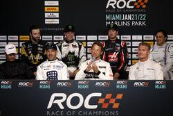 Press Conference with Helio Castroneves, Tony Kanaan, Jenson Button, David Coulthard, James Hinchcliffe, Petter Solberg, Kurt Busch, Felipe Massa