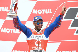Podium: 2. Danilo Petrucci, Pramac Racing, 1. Valentino Rossi, Yamaha Factory Racing