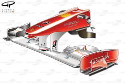 Ferrari F10 front wing