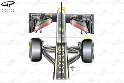 Lotus E21 nose modifications, Italian GP
