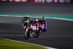 Andrea Dovizioso, Ducati Team; Maverick Maverick Viñales, Yamaha Factory Racing; Valentino Rossi, Yamaha Factory Racing