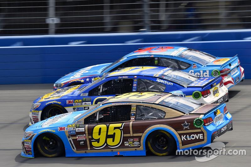 Michael McDowell, Leavine Family Racing, Chevrolet; A.J. Allmendinger, JTG Daugherty Racing, Chevrolet; Aric Almirola, Richard Petty Motorsports, Ford