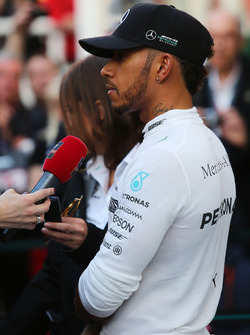 Lewis Hamilton, Mercedes AMG F1 W08 walks the circuit with the media