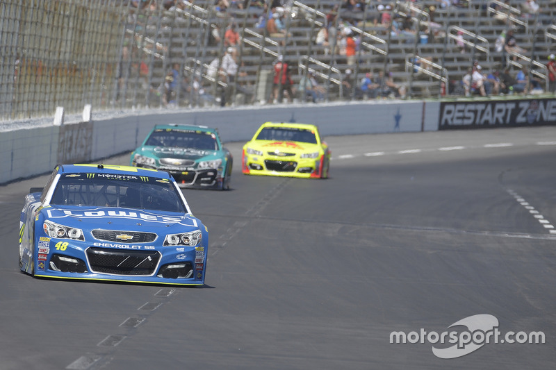 Jimmie Johnson, Hendrick Motorsports, Chevrolet; Jamie McMurray, Chip Ganassi Racing, Chevrolet
