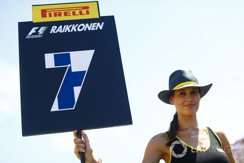 Chica de la parrilla para Kimi Raikkonen, Ferrari SF70H