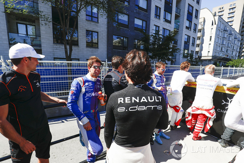 Antonio Felix da Costa, Amlin Andretti Formula E Team, en el desfile de pilotos