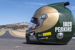 Jack Perkins special helmet honoring his father