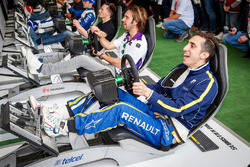 Sébastien Buemi, Renault e.Dams and Jean-Eric Vergne, DS Virgin Racing Formula E Team play simulator