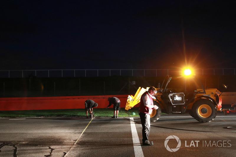 Des travaux ont lieu pendant la nuit
