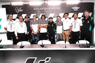 Franco Morbidelli and Fabio Quartararo and the rest of the SIC Racing Team