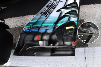 Mercedes-AMG F1 W09 detail front wing