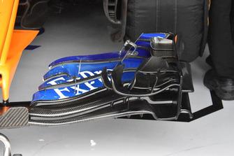 McLaren voorvleugel detail