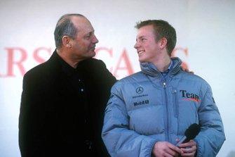 Kimi Raikkonen con Ron Dennis
