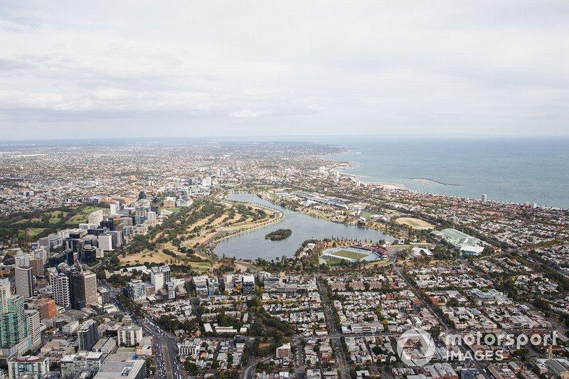 Vista Aérea sobre Albert Park