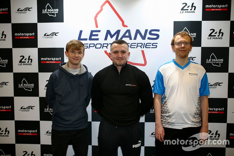Esports qualifying race podium during the Autosport International Exhibition