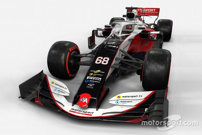 Motorsport Network F1 car mock-up