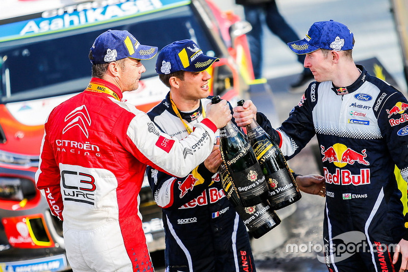 Sébastien Loeb, Citroën World Rally Team Citroën C3 WRC con Sébastien Ogier, M-Sport Ford WRT y Elfyn Evans, M-Sport Ford WRT