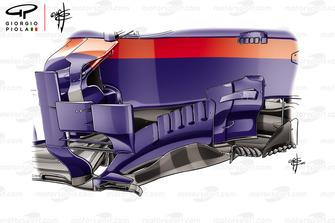Toro Rosso STR13, barge board, GP del Brasile