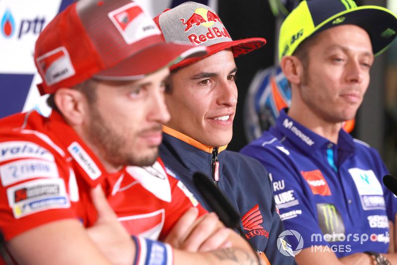 Dovizioso. Marc Marquez, Repsol Honda Team, Valentino Rossi, Yamaha Factory Racing