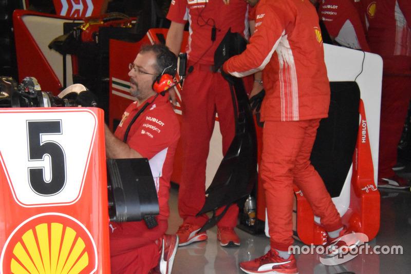 Detalle de alerón delantero Ferrari SF71H
