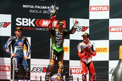 Podium: 1. Kenan Sofuoglu, Kawasaki Puccetti Racing; 2. Lucas Mahias, GRT Yamaha Official WorldSSP Team; 3. P.J. Jacobsen, MV Agusta