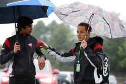 Santino Ferrucci, test and development driver, Haas F1 Team VF-17, Arjun Maini, Development Driver, Haas F1 Team Team