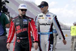 Aric Almirola, Richard Petty Motorsports Ford, Ricky Stenhouse Jr., Roush Fenway Racing Ford