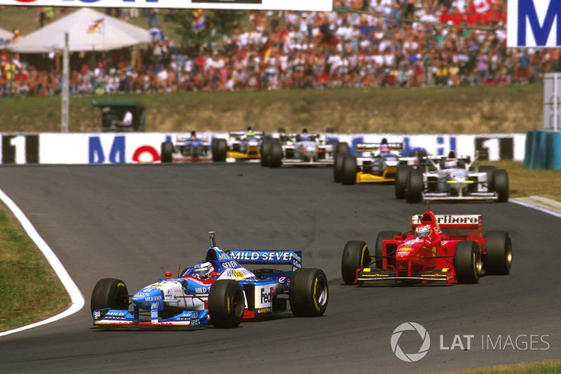 Gerhard Berger, Benetton B197; Eddie Irvine Ferrari F310B