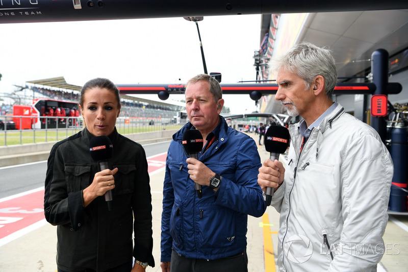 Sky Sports F1: Natalie Pinkham, Martin Brundle, Damon Hill