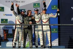 Winners Timo Bernhard, Earl Bamber, Brendon Hartley, Porsche Team