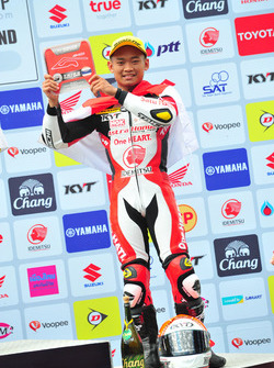 Podium: Rheza Danica, Asia Production 250cc