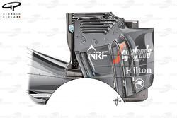 Alerón trasero de McLaren MP4-31 (probado pero no usado)