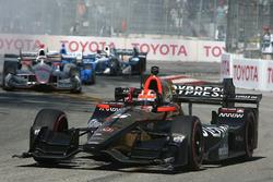 Race winner James Hinchcliffe, Schmidt Peterson Motorsports Honda