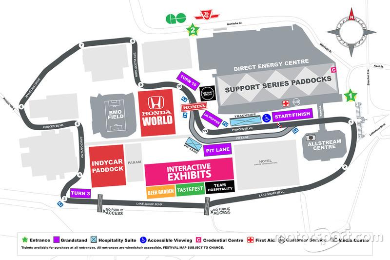 2015 Honda Indy Toronto track layout