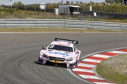 Flat tire for Christian Vietoris, Mercedes-AMG Team Mücke, Mercedes-AMG C63 DTM