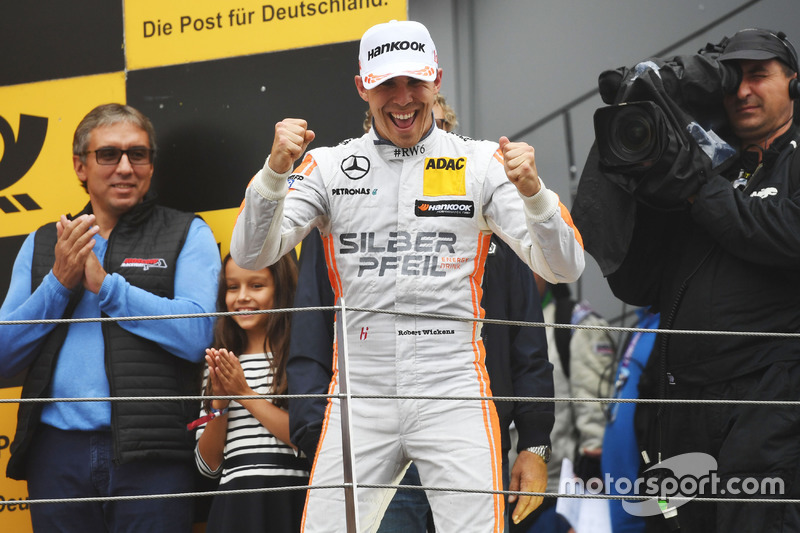 Podium: Race winner Robert Wickens, Mercedes-AMG Team HWA, Mercedes-AMG C63 DTM