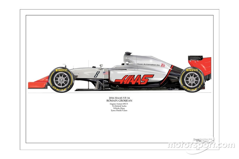 Artwork Haas VF-16 de Romain Grosjean