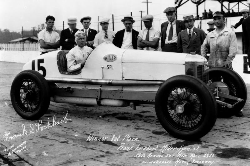 Race winner Frank Lockhart