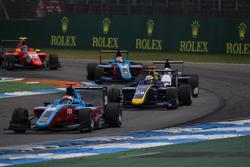 Arjun Maini, Jenzer Motorsport leads Kevin Joerg, DAMS and Konstantin Tereschenko, Campos Racing